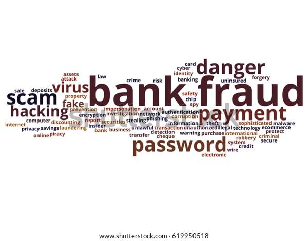 Vector Concept Conceptual Bank Fraud Payment Stock Vector Royalty Free 619950518