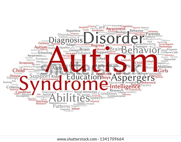 Autism From Behavior To Biology >> Vector Concept Conceptual Childhood Autism Syndrome Stock