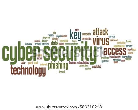 Vector Concept Conceptual Cyber Security Access Stock Vector