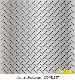 Vector concept conceptual gray metal stainless steel aluminum perforated pattern texture mesh background as metaphor to industrial,abstract,technology,grid,silver,grate,spot,grille surface