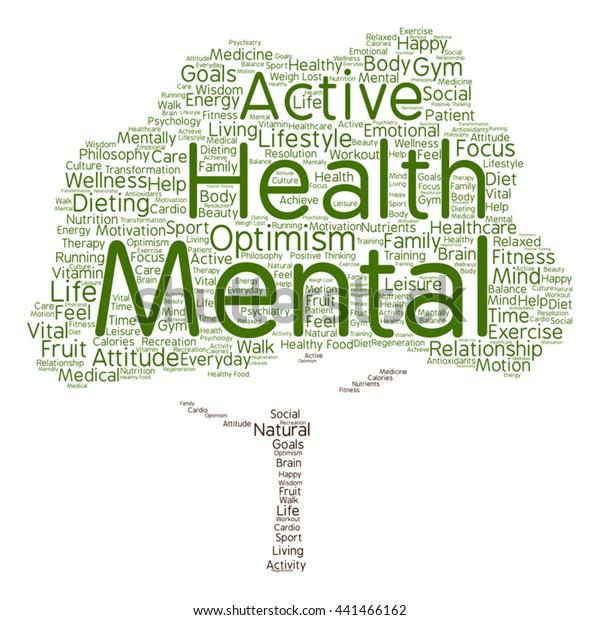 Vector Concept Conceptual Mental Health Positive Stock Vector