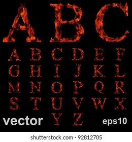 Fire Font Collection Images, Stock Photos & Vectors