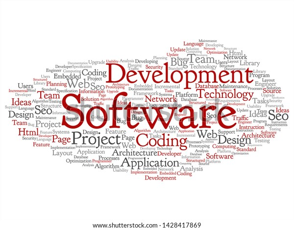 Vector Concept Conceptual Software Development Project Stock Vector