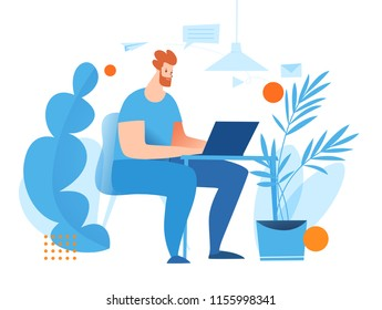 Vector concept illustration with office people. Business theme.