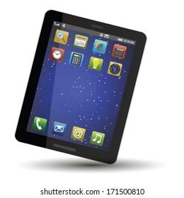 Vector concept tablet .