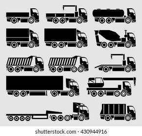 Vector concept trucks icon set