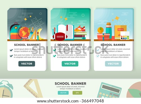 vector concepts design education banner vertical stock vector