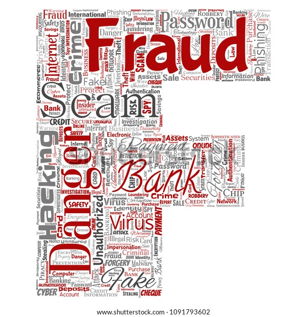 Vector Conceptual Bank Fraud Payment Scam Stock Vector Royalty Free 1091793602