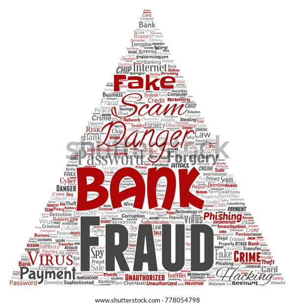 Vector Conceptual Bank Fraud Payment Scam Stock Vector Royalty Free 778054798