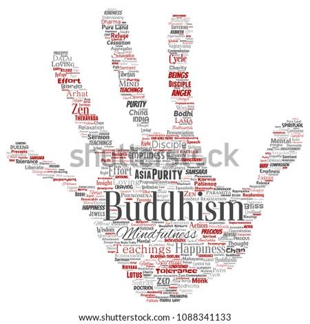 Vector Conceptual Buddhism Meditation Enlightenment Karma Stock