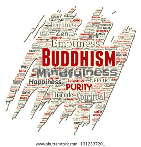 Vector conceptual buddhism meditation
