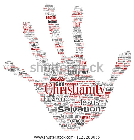 Vector Conceptual Christianity Jesus Bible Testament Stock Vector