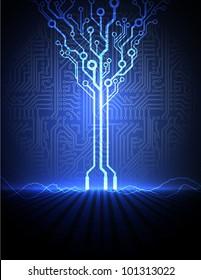 vector conceptual electronic background