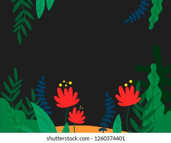 Vector conceptual illustration. Vector plant, flower. Beautiful background.