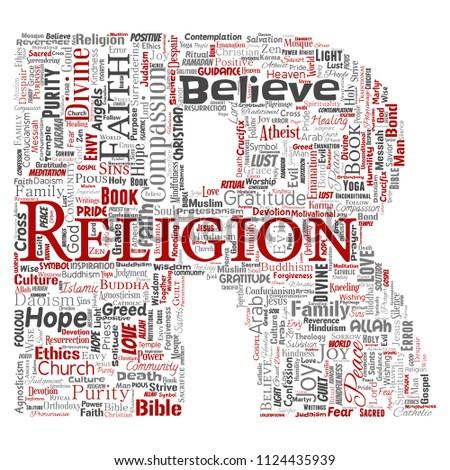 Vector Conceptual Religion God Faith Spirituality Stock