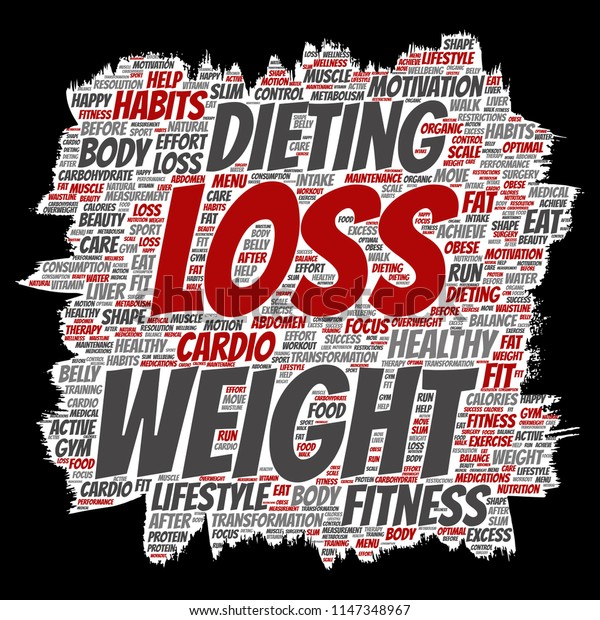 Vector conceptual weight loss healthy diet transformation paint brush paper word cloud isolated background. Collage of fitness motivation lifestyle, before and after workout slim body beauty concept