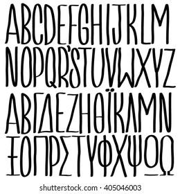 Vector condensed capital letters regular