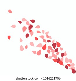 Vector Confetti Background Pattern. Element of design. Colored petals on a white background