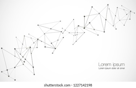 Vector Connect Lines Dots Network Nodes Stock Vector Royalty Free