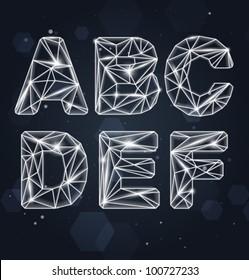 Vector Constellation Geometric Font A-F