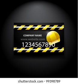 Vector construction/computer repair business card