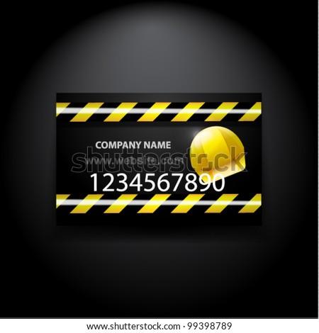 Vector Constructioncomputer Repair Business Card Stock Vector