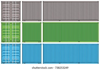 Vector of Container cargo