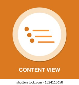 Vector Content view options - list Icon