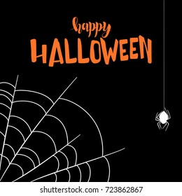 Vector contour illustration of a cobweb for Halloween on a white background.