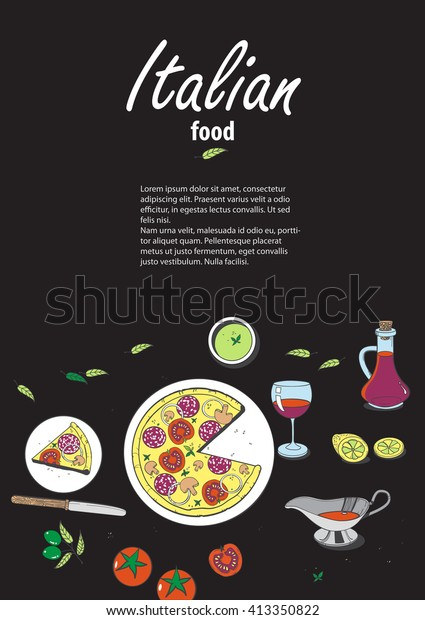 Vector Cooking Banner Template Hand Drawn Stock Vector Royalty Free 413350822