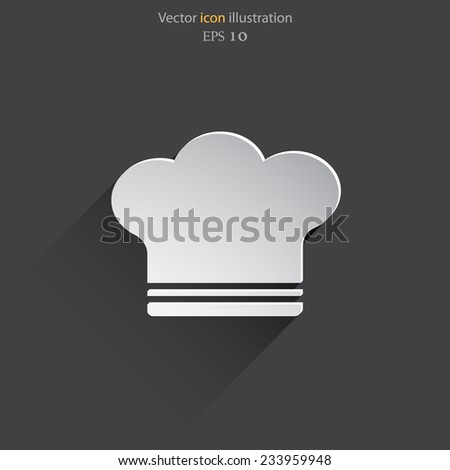 Vector Cooking Cap Web Flat Icon Stock Vector (Royalty Free ... 2c39f4f630c