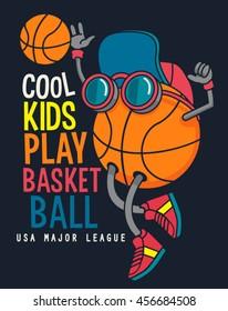 vector cool basketball player design
