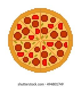 Pixel Pizza Images Photos Et Images Vectorielles De Stock Shutterstock