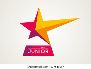 Vector Coral Red Junior Logotype