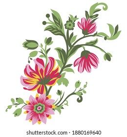 Vector coreldraw drawing and sketch flower.