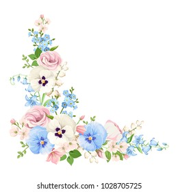 Vector Flower Corner Border Png