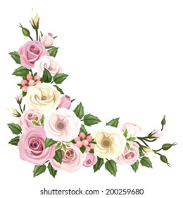 Rose Border Corner Images Stock Photos Vectors Shutterstock