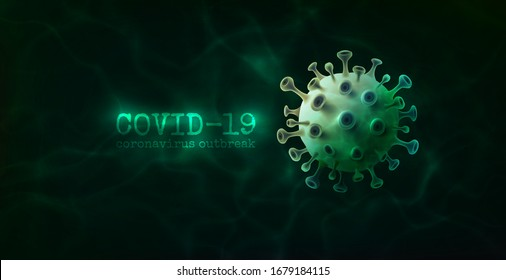 Vector of Coronavirus 2019-nCoV and Virus background with disease cells.COVID-19 Corona virus outbreaking and Pandemic medical health risk concept.Vector illustration eps 10