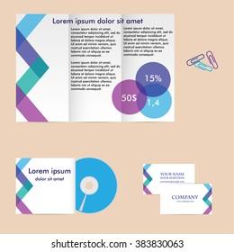 Vector corporate identity mock up. Branding design.
