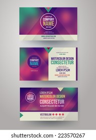 Vector Corporate identity templates with blurred abstract background