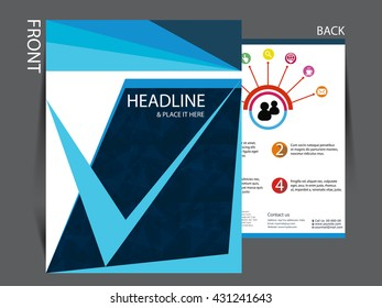 Vector corporate minimal flyer template for your business it can be used in print and publication.