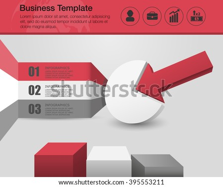 Vector Corporate Performance Report Template Business Stock Vector