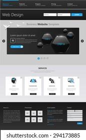 Vector Corporate Website Template Desgin