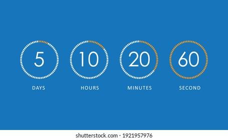 Vector countdown clock counter timer. vector illustration