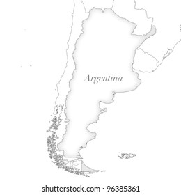 Vector country map of Argentina