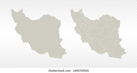 Vector couple soft yellow of map Iran. on transparent background.