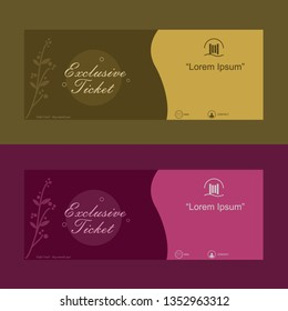 vector coupon card, for discount, gift. or use for certificate, banner, special offer. vector illustration ready to use and editable.