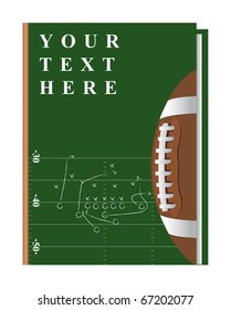Vector cover of the book on the topic of football, can be implemented by a summary, playbook, etc.