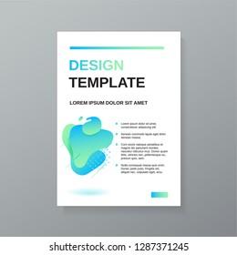 Vector cover broshure magazine branding poster design template