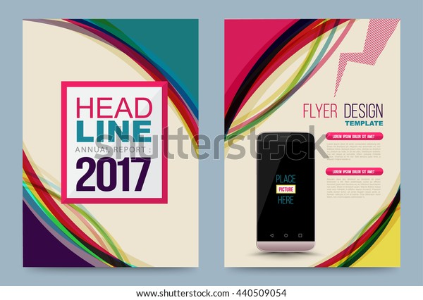 Vector cover design template, Can use for flyer, brochure, annual report, magazine, book, poster, printing press and web presentation. Vector illustration. Front page and back page layout in A4 size.